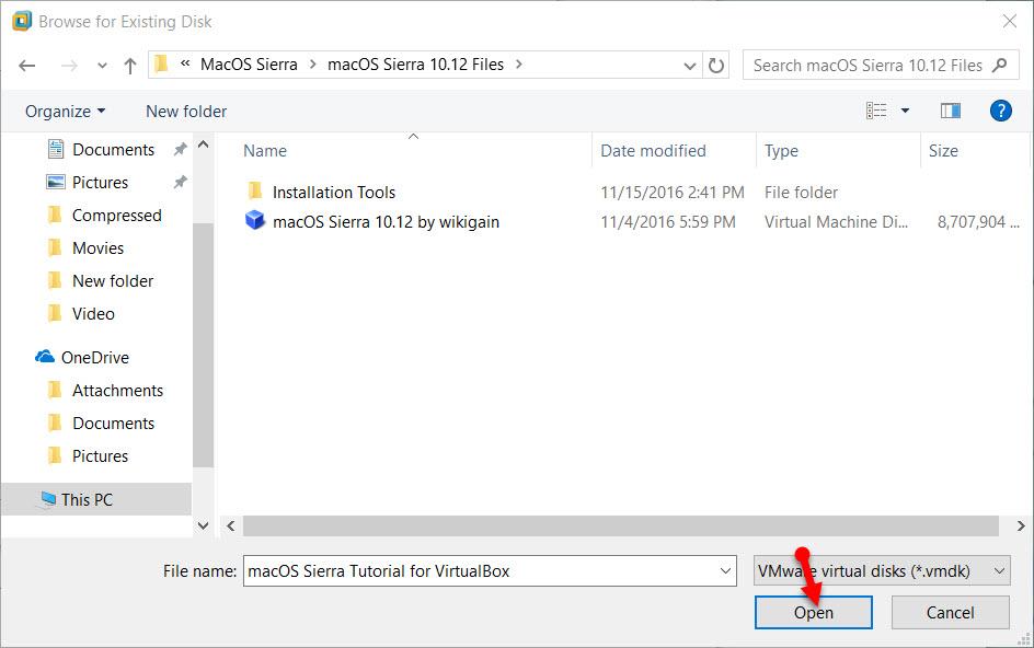 macOS Sierra Image file