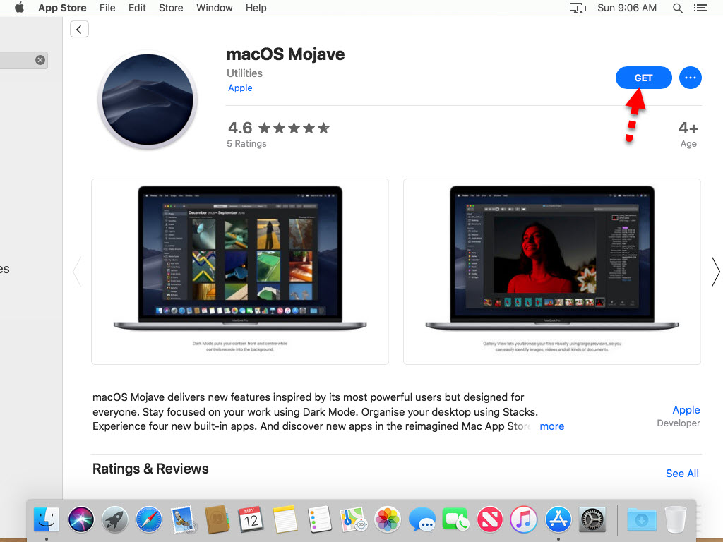 Update macOS Mojave on VMware