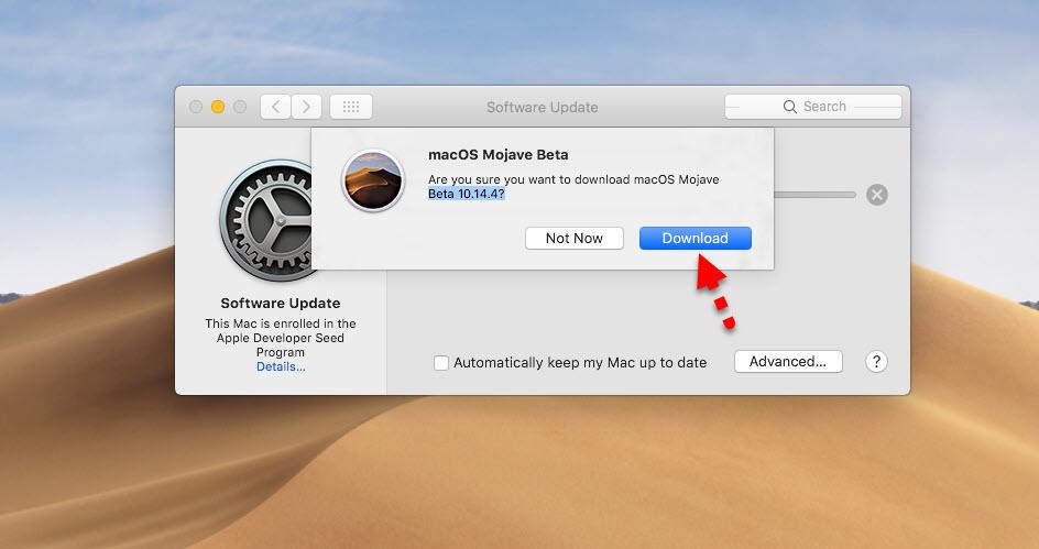 Download macOS Mojave 10.14.4 update