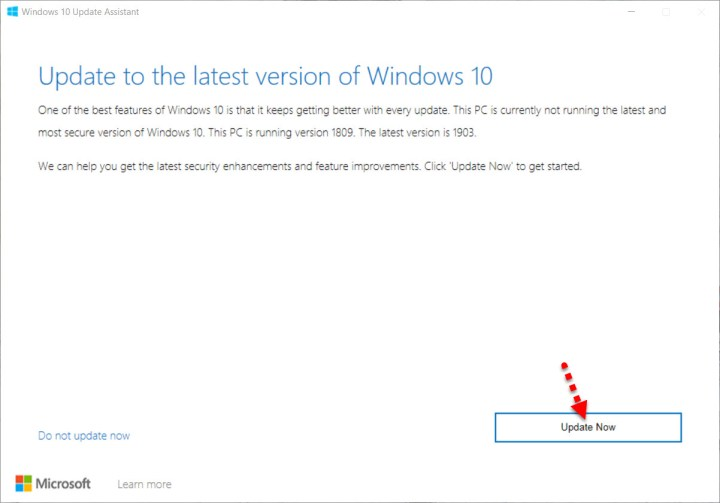 Update to the latest version of Windows