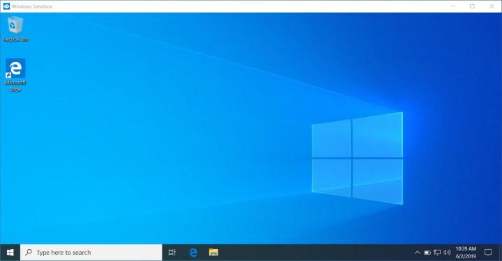 Enable Windows 10 sandbox