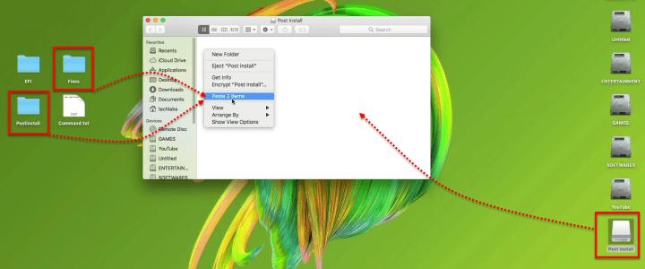Copier le fichier post-installation