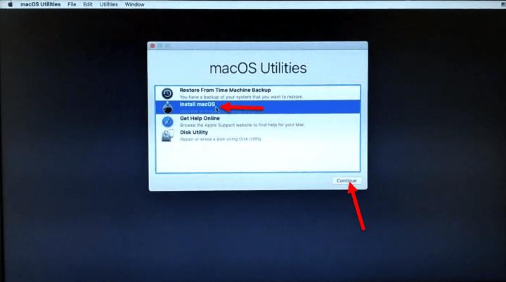 Install macOS Mojave