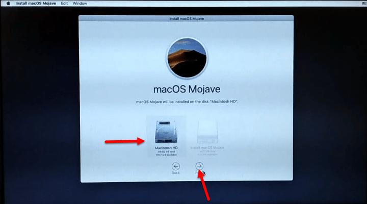 Boot macOS Mojave from Macintosh HD