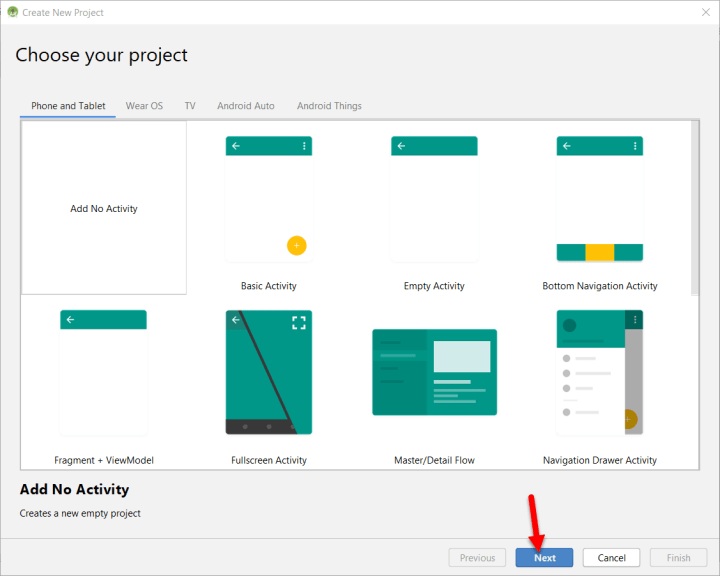 Choose your project