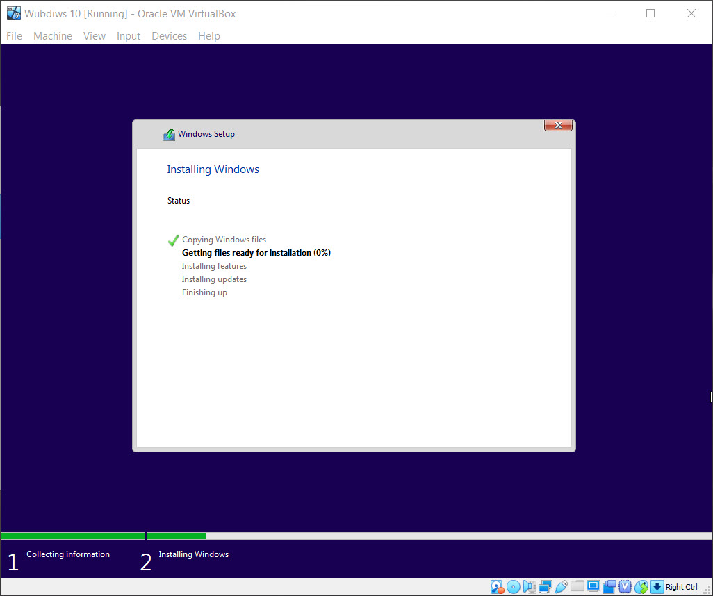 Windows is installing