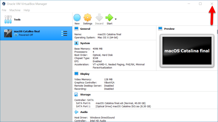 Install macOS Catalina 10.15 on VirtualBox on Windows PC