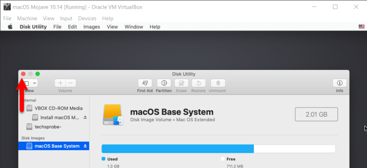 Close Disk Utility
