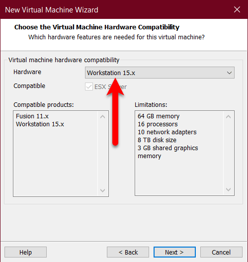 Choose hardware comparability