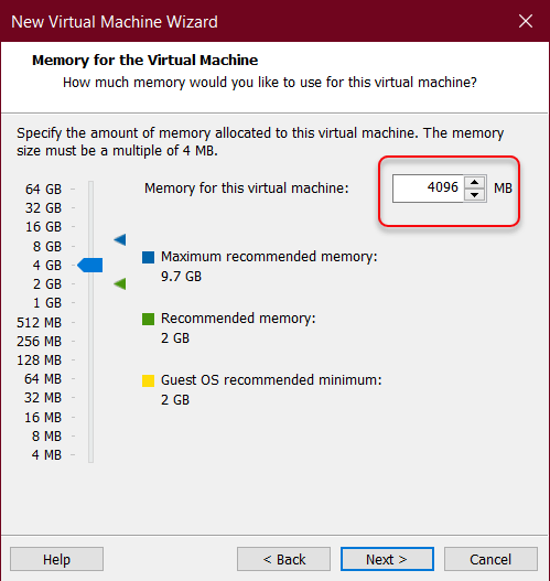 Increase memory size