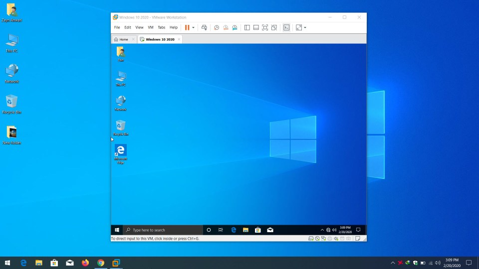 How to Fix screen Resolution of Windows 10 on VMware Workstation