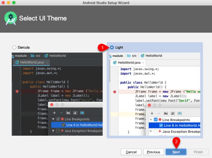 Choose UI theme