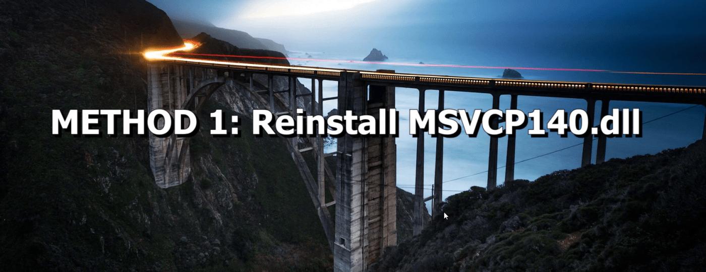 Reinstall MSVCP140.dll