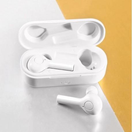 Casti Techstar® TWS TW08, Wireless si Bluetooth V5.0, Waterproof, Alb, HiFi, Anynet