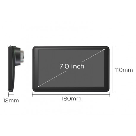 "GPS Auto Techstar M18X 7"" Premium 8GB Bluetooth Si Wifi"