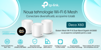 TP-Link Whole Home Mesh Dual-Band Gigabit AX3000 Wi-Fi 6