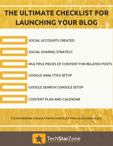 ultimate checklist for blog launch blog writing