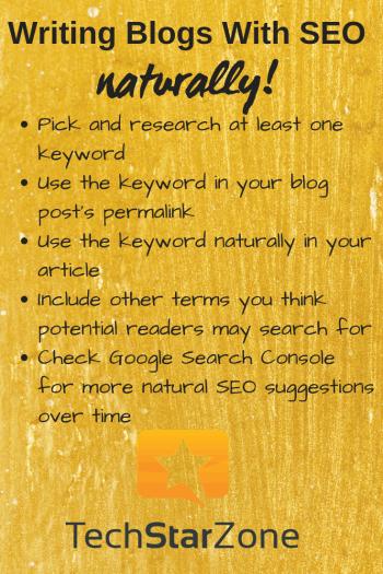 blog writing seo naturally
