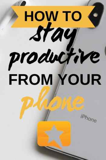 productivity from phone for bloggers