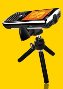Spice Popkorn projector phone M9000 features specifications