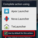 change a default application in ics