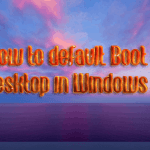 default Boot to Desktop in Windows 8