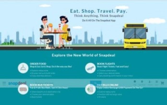 snapdeal-food-bus-flight-ticket