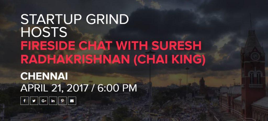 startup grind suresh radhakrishnan chai king