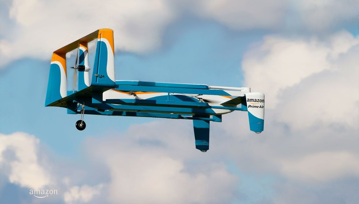 amazon unmanned aerial vehicle safe landing