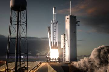 Triple Rocket Falcon Heavy Launch
