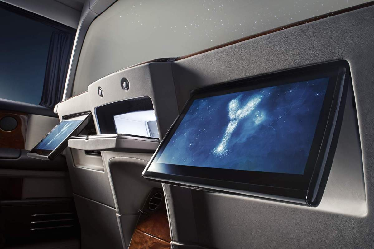 Rolls-Royce privacy suite screens