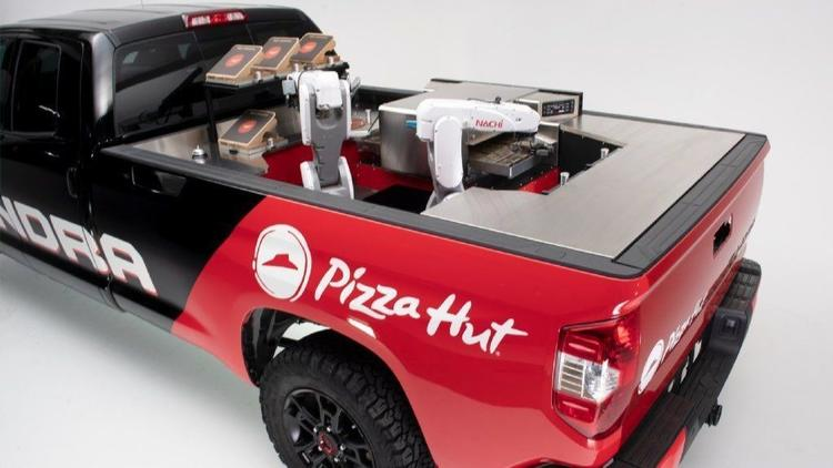 Pizza Hut prototype: Robot chef in pickup truck could slice delivery times