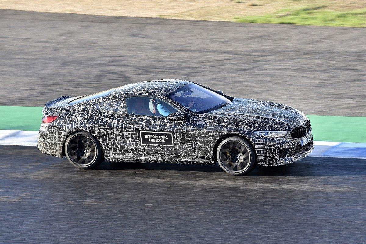 BMW M8 on track