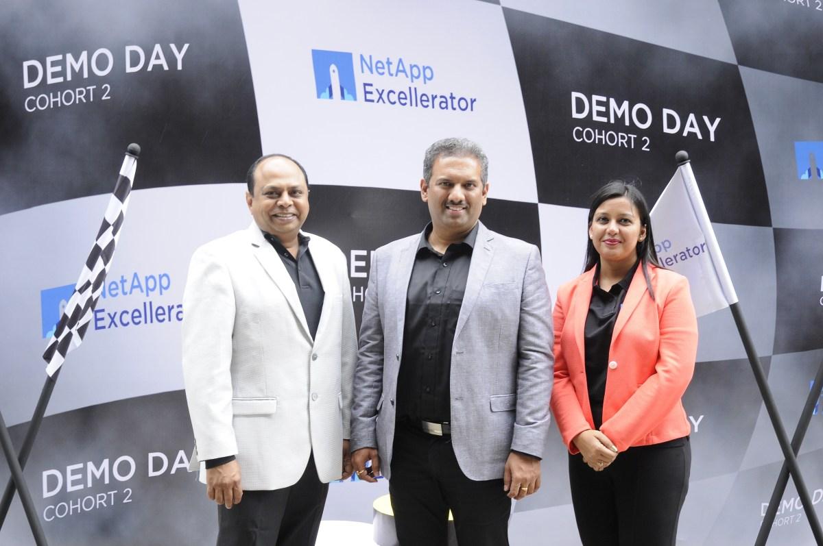 NetApp Excellerator Left to right - Deepak Visweswaraiah, Ajeya Motaganahalli and Madhurima Agarwal