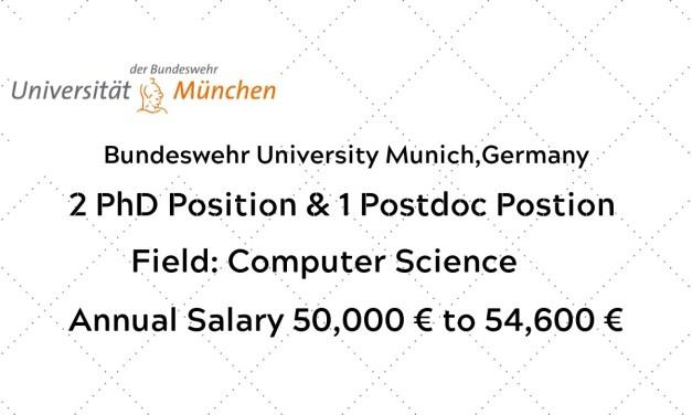 Fully Funded  Scholarship at Bundeswehr University Munich,Germany
