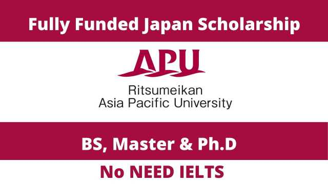 MEXT Asia Pacific University Japanese Government Scholarship 2021