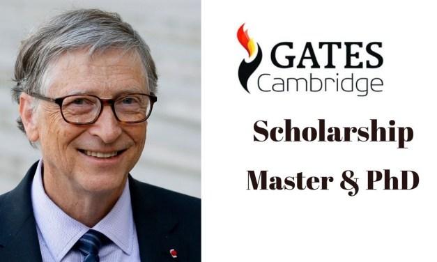 Gates Cambridge Scholarship in UK 2021  [Fully Funded]