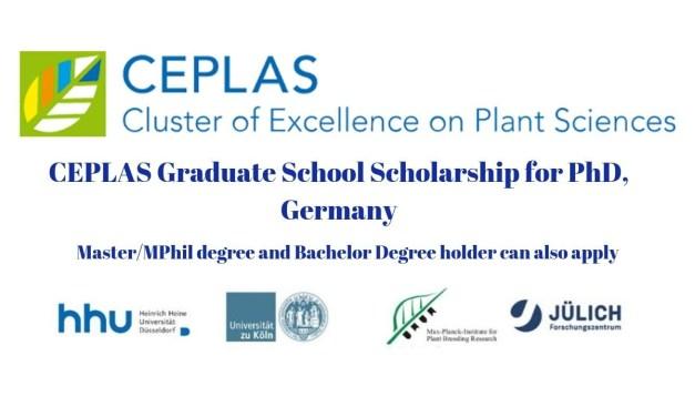 CEPLAS Graduate School Scholarship for PhD, Germany
