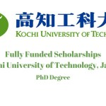 Kochi University of Technology PhD Scholarship, Japan 2021