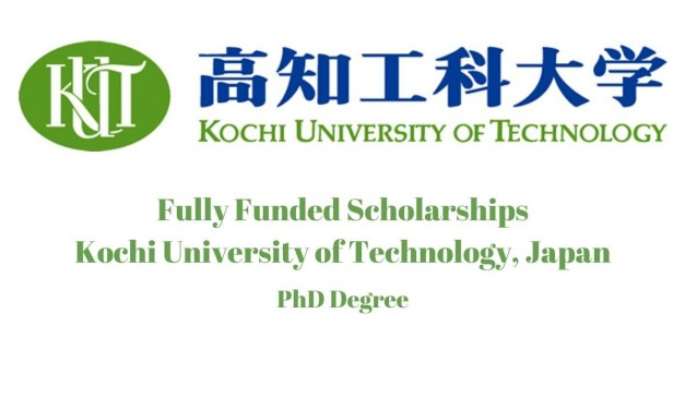 Kochi University of Technology PhD Scholarship, Japan 2021
