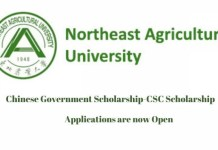 Northeast Agricultural University CSC Scholarship