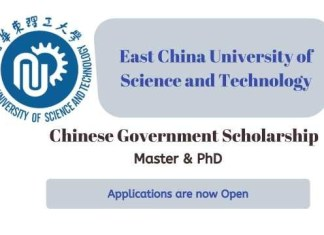 East China University of Science and Technology CSC Scholarship