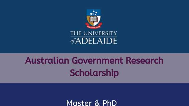 Fully Funded University of Adelaide Australian Government Research Scholarship 2020
