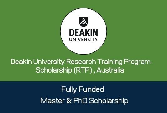 Deakin University Research Training Program Scholarship