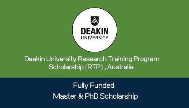 Deakin University Research Training Program Scholarship, Australia