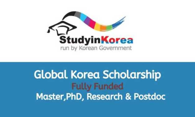 Global Korea Scholarship 2021 – Korean Government Scholarship