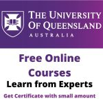 University of Queensland Free Online Courses Australia 2021