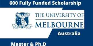 Fully Funded Scholarship in University of Melbourne