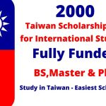 Fully Funded Taiwan Scholarships 2022 Spring for International Students