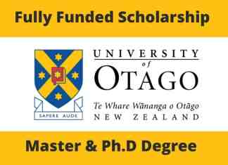 Fully Funded Scholarship at University of Otago